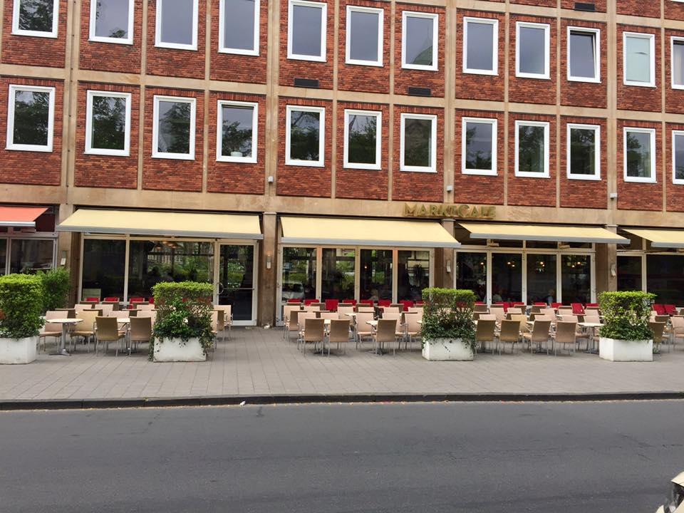 Außenansicht Marktcafe - das Cafe in Münster