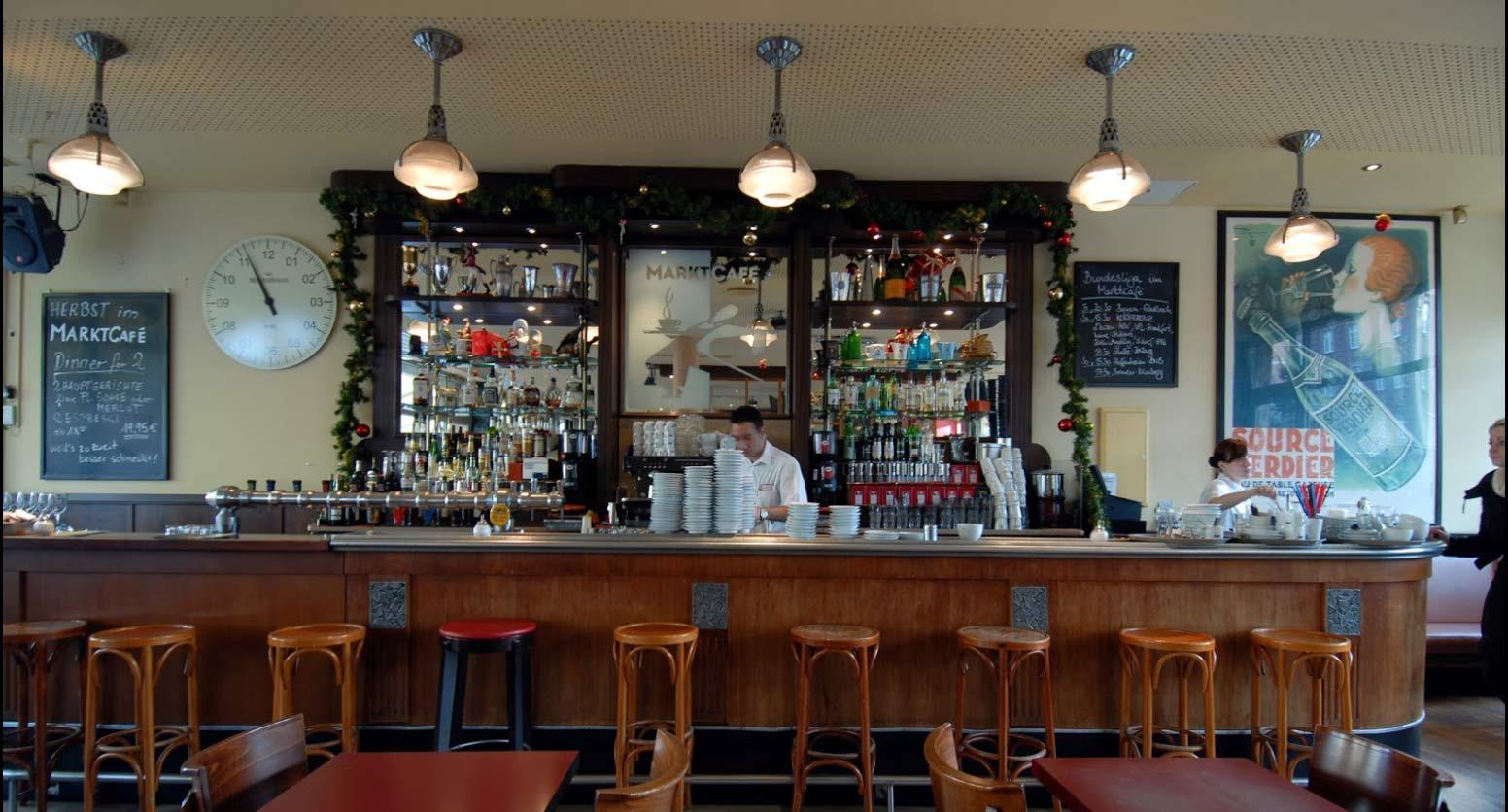 Die Pariser Theke im Marktcafe - dem Cafe in Münster