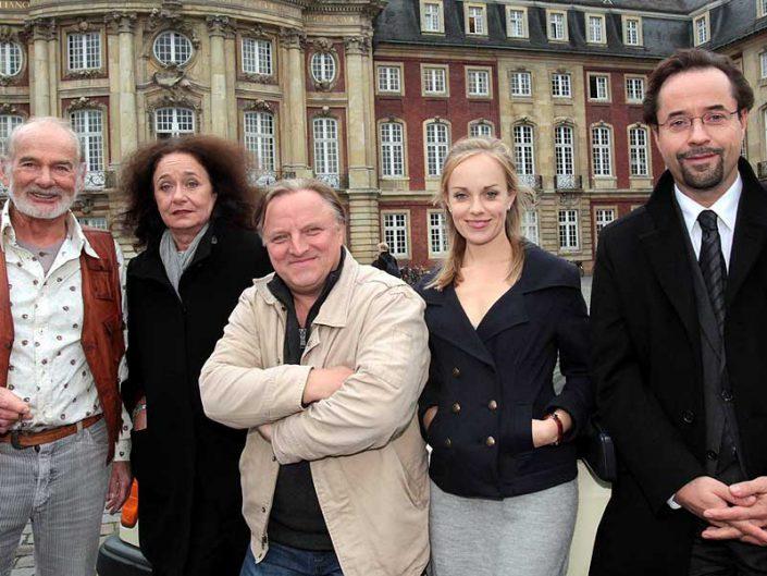 Das Tatort-Team war bereits für Dreharbeiten zu Gast im Marktcafé Münster. Auch für die Krimi-Reihe Wilsberg wurde schon bei uns im Marktcafé gedreht. Foto: Presseamt Münster