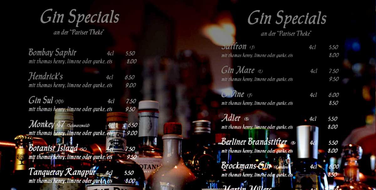 Gin Karte Marktcafe Munster Flammkueche