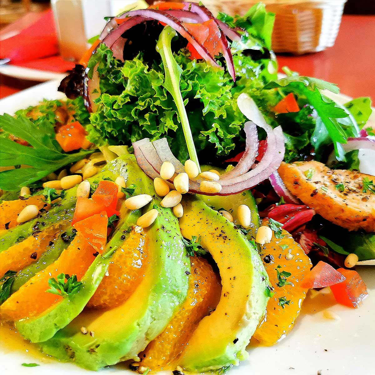 Avocado Salat vegan